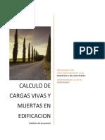 CARGAS VIVAS Y MUERTAS EN EDIFICACION- ESTRUCTURASII
