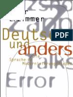 Zimmer_Dieter E. - Deutsch Und Anders