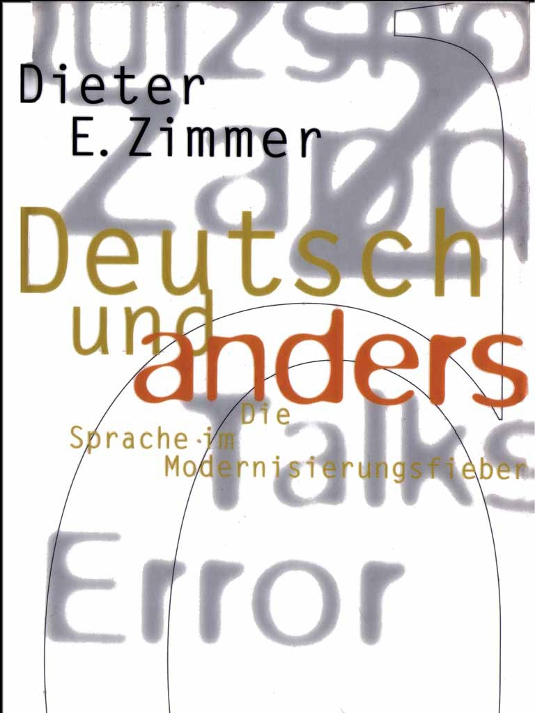 Zimmer Dieter E Deutsch Und Anders