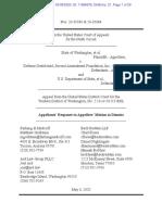 Washington v Defense Distributed Response to Motion to Dismiss