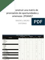 10. MATRIZ DE PRIORIZACION DE OPORTUNIDADES Y AMENAZAS