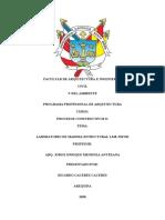 FACULTAD DE ARQUITECTURA E INGENIERÍAS