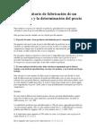 El costo unitario de fabricación de un producto y la determinación del precio de venta