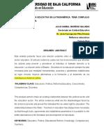 ENTREGA FINAL POLITICA Y REFORMA EDUCATIVA 28-6-19
