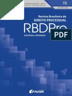 Revista Brasileira de Direito Processual – RBDPro. N. 78