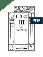 Aleister Crowley - Liber 3 - Liber III - vel Jvgorvm