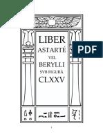 Aleister Crowley - Liber 175 - Liber CLXXV - Liber Astarté vel Berylli