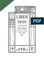 Aleister Crowley - Liber 341 - Liber CCCXLI - Liber HHH