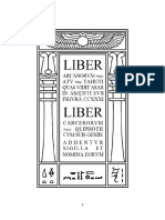 Aleister Crowley - Liber 231 - Liber CCXXXI - Liber Arcanorvm, Liber Carcerorvm