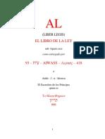 Aleister Crowley - Liber 31 - Liber XXXI - AL (LIBER LEGIS) - El Libro de la Ley (Manuscrito)