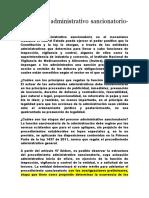 El Proceso Administrativo Sancionatorio