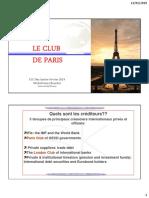 10.3. Role du Club de PARIS 2019