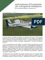 Embraer apresenta Ipanema 203 preparado para Certificação Aeroagrícola Sustentável · AERO Magazine.pdf