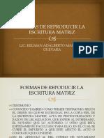 FORMAS DE REPRODUCIR LA ESCRITURA MATRIZ