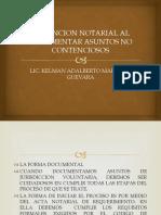 LA FUNCION NOTARIAL AL DOCUMENTAR ASUNTOS NO CONTENCIOSOS