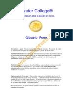 Glosario sobre Forex