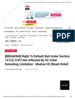 [BREAKING] Right To Default Bail Under Section 167(2) CrPC Not Affected By SC Order Extending Limitation _ Madras HC [Read Order].pdf