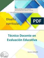 Diseño curricular Técnico en Evaluación pdf
