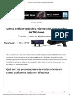 ▷ Cómo activar todos los núcleos del procesador en Windows.pdf
