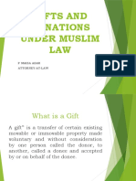 Gifts and Donations under Muslim Law (1)