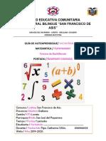 Matematica tercero de bachi quinta guia circulo 1