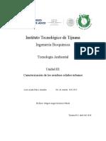 Caracterización de los residuos sólidos urbanos