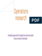 Operations research1