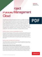 Oracle Project Portfolio Management Cloud Data Sheet