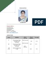 Tamilselvi Resume