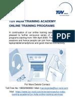 TUV_India_Online_Training_Program.pdf