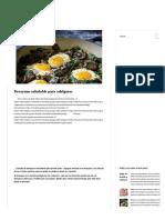 huevos con espinacas y champis