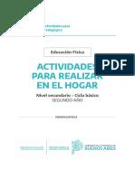 Cuadernillo PDF. Educación Física 2ro. SECUNDARIA - Quedateencasa