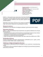 Catalogue (Antigens and Conjugates)