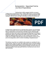 Digital Meat Thermometers - Important Tool in Cooking Delicious Meat Preparations