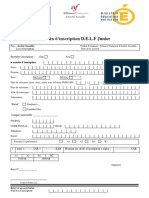 Bulletin d'Inscription Delf Junior 2020
