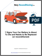 7 Signs Your Car Battery Is About To Die and Needs to Be Replaced (or reconditioned)