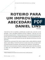 16 - ROTEIRO PARA UM IMPROVÁVEL ABECEDÁRIO DE DANIEL LINS