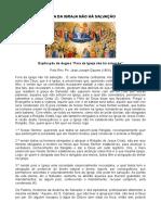 Explicação do Dogma Fora da Igreja não há salvação - Pe. Jean Joseph Gaume