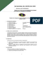 2018-I Gestion de Analisis de datos avanzados - ILM