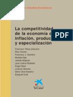 La competitividad de la economía española. Inflación, productividad y especialización