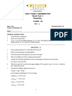 StudyVault-Class - XI HALF YEARLY EXAMINATION Mock Test -01_Chemistry_Set-A paper