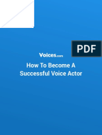 How to Become a Successful Voice Actor