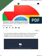 Principais erros do Chrome