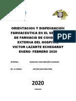 ORIENTACION Y DISPENSACION FARMACEUTICA EN EL SERVICIO DE FARMACIA DE CONSULTA EXTERNA DEL HOSPITAL VICTOR LAZARTE ECHEGARAY ENERO.docx