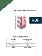 SILABO HISTORIA DEL ARTE  2020-I