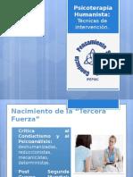 Psicoterapia Humanista técnicas de intervención