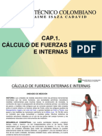 CAP.1. CÁLCULO DE FUERZAS EXTERNAS E INTERNAS