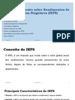 TEMA II- IRPS