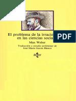 Weber El problema de la irracionalidad en las ciencias sociales.pdf