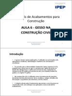 AULA 6 -GESSO NA CONSTRUÇÃO CIVIL.pdf